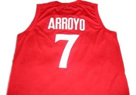 Carlos Arroyo #7 Puerto Rico Basketball Jersey Red Any Size image 2