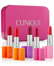 CLINIQUE 5-Pc Pick Your Party Full Size Lipstick Set + Free 2 bonus sample NEW - $41.99