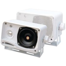 Pyle PLMR24 Hydra Series 3.5 200-Watt 3-Way Weatherproof Mini-Box Speake... - $40.77