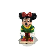 Disney Minnie Mouse Christmas Ice Skiing Applause PVC Figure - $19.79