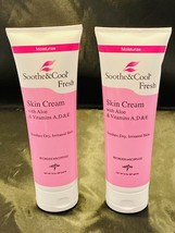 Medline Sooth & Cool Fresh Skin Cream Aloe Vitamins A D E 8 Oz Set Of 2 - $22.76