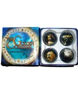 4 2007 THE GOLDEN COMPASS Christmas Ornaments Set Movie Promotion NIB MI... - $14.99