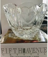 Fifth Avenue LTD Crystal Sweetheart Bowl Votive Holder in Original Box - $18.99