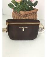 New Michael Kors Fanny Pack Dark Brown Nylon Adjustable Belt Bag  B2Z - $103.90