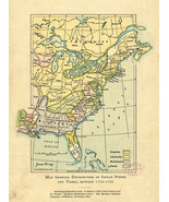 "1904 Map Distribution of Indian Stocks and Tribes 11""x15"" Native American Poster - $12.38"