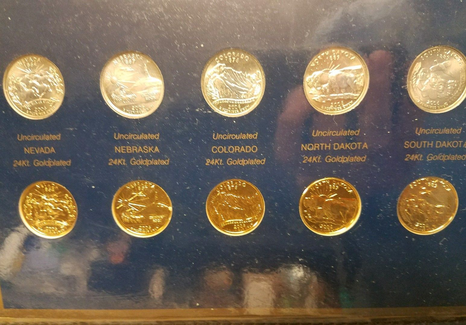2006 North Dakota State Quarter P /& D Postal Commemorative Society Statehood
