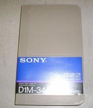 New Sony D1M-34A Digital D1 34 34min 4:2:2 Component Digital Video Cassette - $37.49