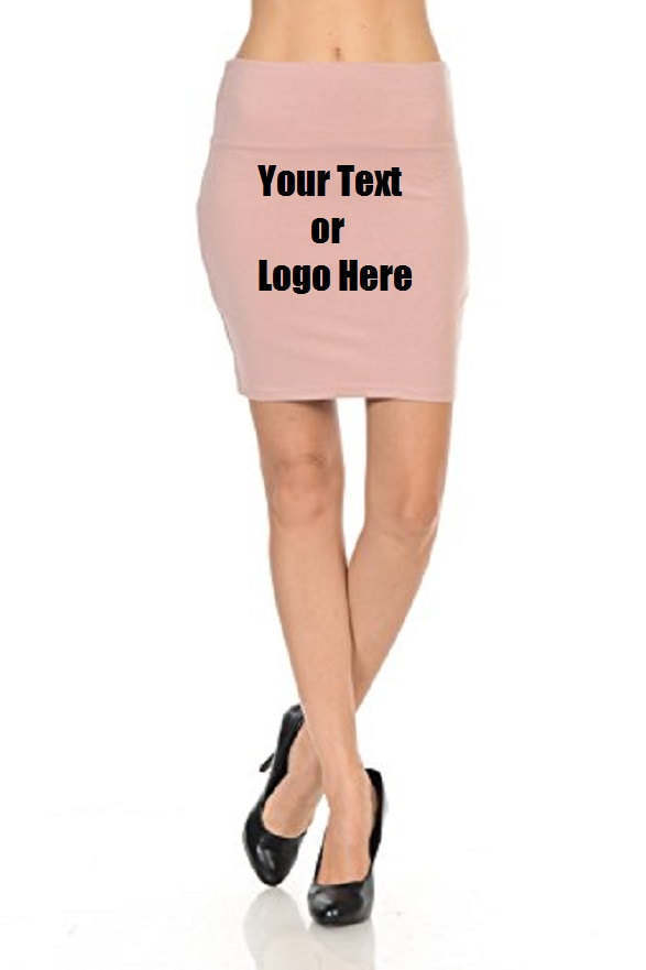 Custom Personalized Designed Women's Solid High Waist Stretch Cotton Span Mini S - $34.95