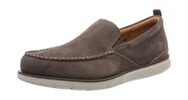 UK Clarks 11 Grey Suede Taupe Step Loafers Mens Edgewood n8wznOPg