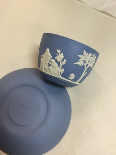 Wedgwood Vintage Blue And White Cup & Saucer