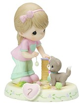 Precious Moments,  Growing In Grace, Age 7, Bisque Porcelain Figurine, B... - $51.26