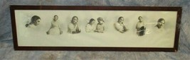 Yard Long Wooden Photo Picture Mirror Frame Victorian Arts Crafts Hausk ... - $99.00