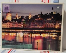 1970s New Luzern Switzerland Hotel Des Alpes Jigsaw Puzzle 1000 Pieces R... - $34.60