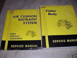 1975 GM Cadillac Body Service Shop Repair Manual Set Fisher Body OEM  - $18.81