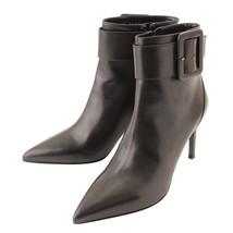 Authentic Saint Laurent Buckle Ankle Boots Booties Black Size 38 Used Gr... - $570.12