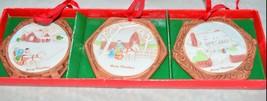 VTG LEFTON Christmas Winter Home House Scenery Hanging Ornaments - $29.70