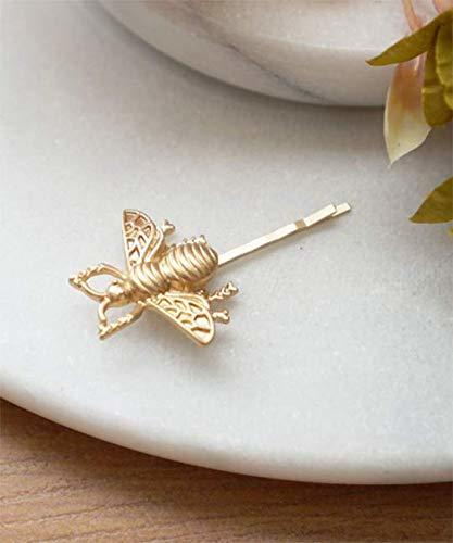 Gold Bee Hair Bobby Pin, Bumblebee Hair Pin, Matte Gold Bee Hair Clip, Bridesmai