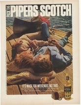 1975 Seagram's Piper Scotch Advertisement - $16.00