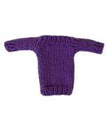 Barbie Doll Clothes Knit Purple Boatneck Sweater Handmade - $6.49