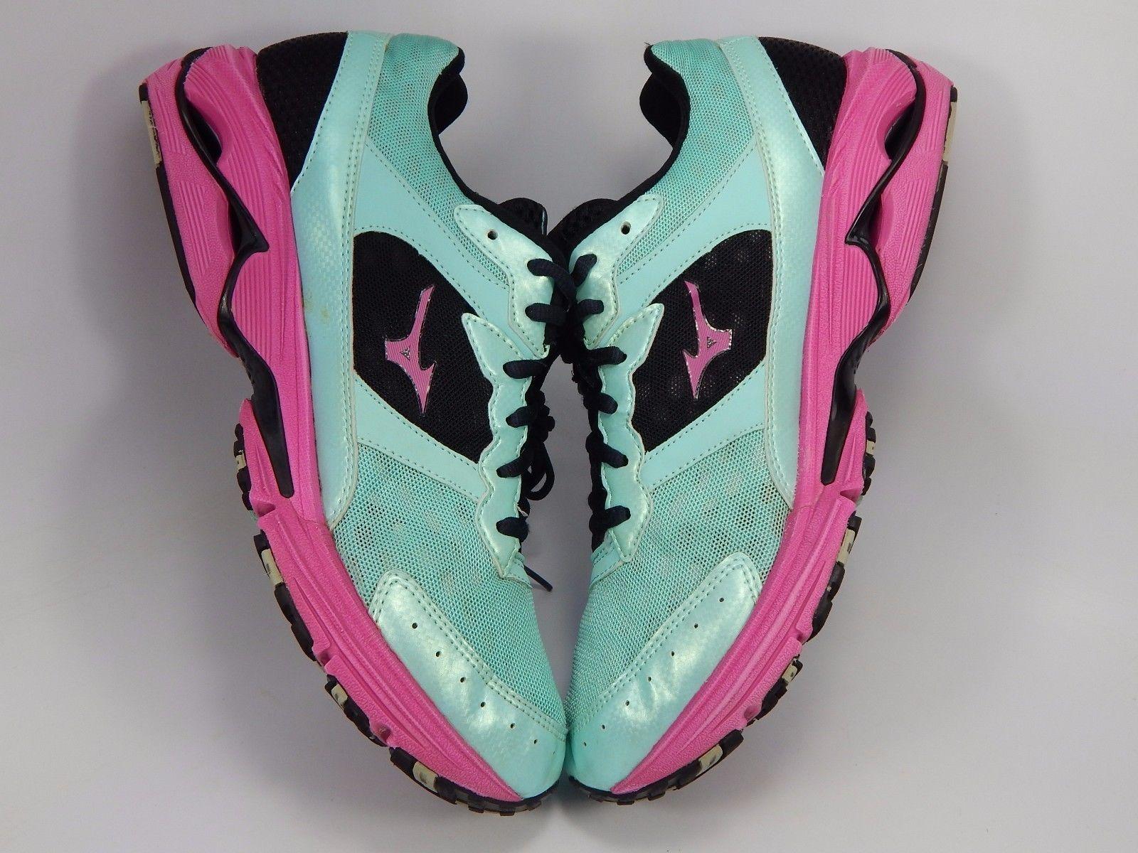 Mizuno Wave Rider 16 Women's Running Shoes Size US 10 M (B) EU 41 Green Pink