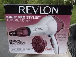 New Revlon Ionic Ceramic Pro Stylist 1875 Watt Dryer New N Box Lightweight - $29.99