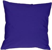 Pillow Decor - Caravan Cotton Royal Blue 20x20 Throw Pillow - $29.95