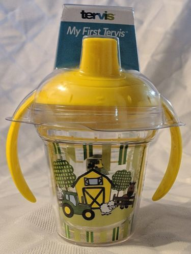 John Deere LP67610 6oz My First Tervis Yellow Farm Scene Sippy Cup