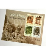 Ancient Sri Lanka Stamps Miniature Sheet with Preparation 04 Stamps in 0... - $7.61