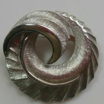 Vintage Signed Coro Silver-tone Swirl Brooch  - $14.80