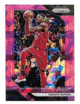 2018-19 Panini Prizm Delon Wright Pink Cracked Ice Prizm Card #113 - $1.24