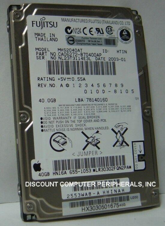 "NEW MHS2040AT Fujitsu 40GB 2.5"" IDE Hard Drive Free USA Shipping Our Drives Work"