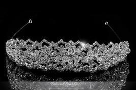 Lara Victorian Art Deco Silver Tiara | Swarovski Crystal - $145.95