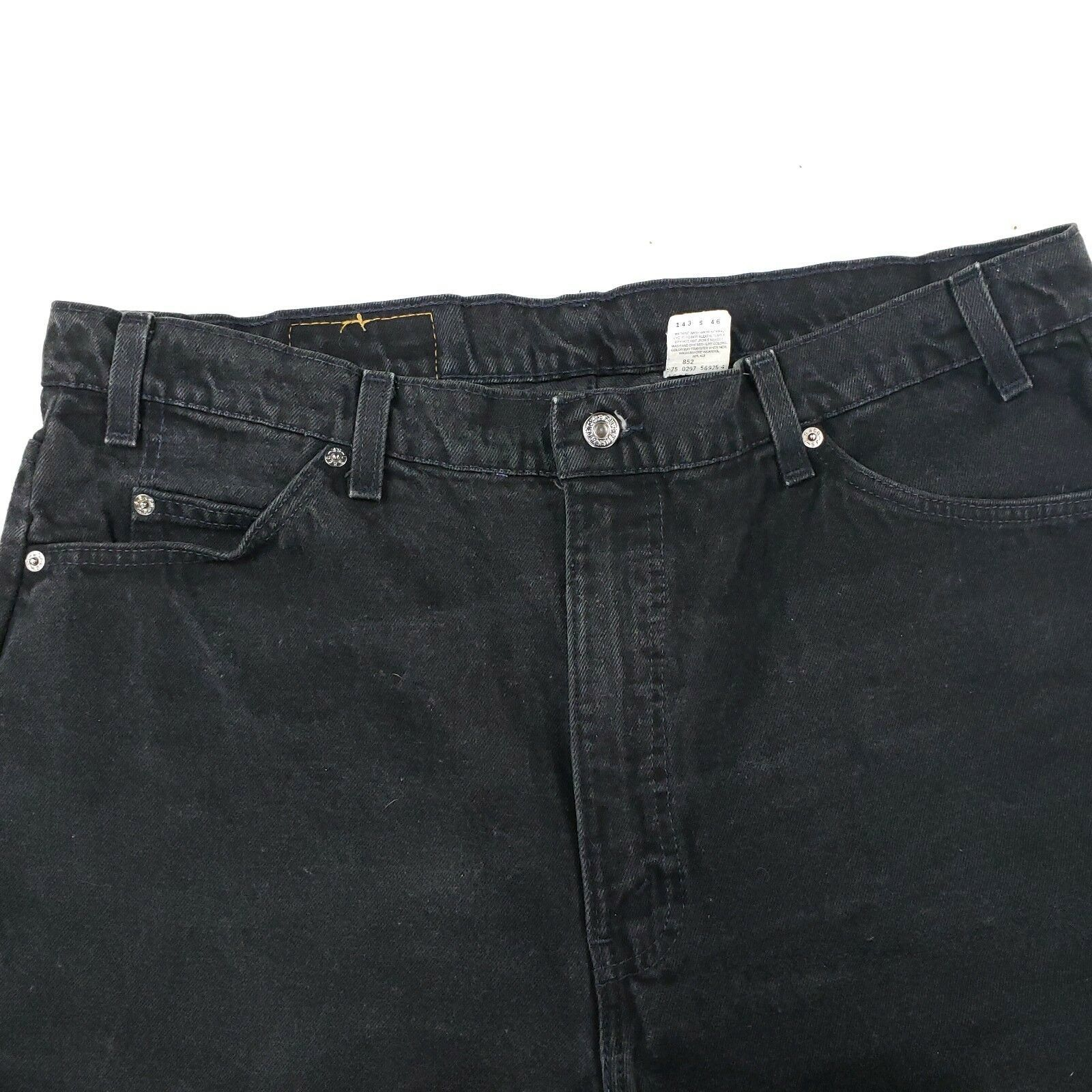 e38cfd6d9d5 LEVIS ORANGE TAB VINTAGE 550 DENIM SHORTS black MENS 42x11 Measure 40x11