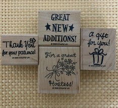 Stampin Up!1999 Set of 4 Small Business Owners Stamps Boss Babe Stamps MLM - $15.79