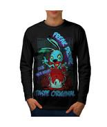 Blood Freak Bunny Zombie Tee Made Brains Men Long Sleeve T-shirt - $14.99