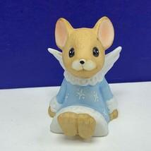 Angel figurine vintage porcelain sculpture Christmas Enesco mouse mice b... - $16.63