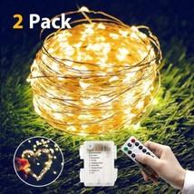 isimsus Guirlande Lumineuse Batterie, 2 Pack LED 5M 50 LEDs Cuivre Noël...  - $22.84