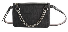 MICHAEL KORS MK WOMEN'S LEATHER PURSE BELT FANNY PACK BAG BLACK 554131 size S