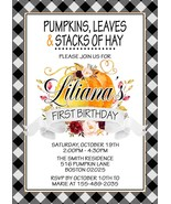 Pumpkin Birthday Invitation, 1st Birthday Pumpkin Invitation, Fall Invit... - $0.99