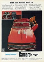 1967 Chevrolet Camaro smile | 24 x 36 INCH POSTER | sports car - $21.77