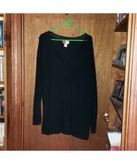 JM Woman Collection Black V-Neck Lined Sparkly Blouse Sweater  -  3X - $29.99