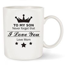 """Coffee Mug, """" To My Son - Love Mom"""" Gift To Son From Mother 11 OZ Cup - ... - $16.51"""
