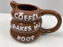 Coffee Makes Me Poop Mug Coffee Cup Emoji Bigmouth - $10.89