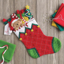 "Bucilla ""Holiday Teddy'  Felt Christmas Stocking Embroidery Kit, 86815 - $24.99"