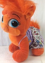 Build A Bear Palace Pet Orange Plush Fuzzy Fluf... - $19.34