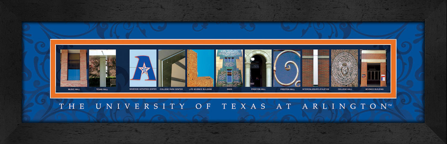 Primary image for University of Texas at Arlington Officially Licensed Framed Campus Letter Art