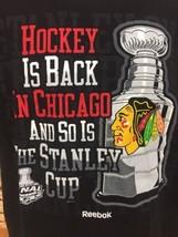 Chicago Blackhawks NHL Hockey Is Back Stanley Cup Final 2010 Reebok T-Sh... - $13.98