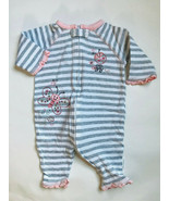 Girl's Size 3M 0-3 Months First Moments One Piece Gray Butterfly Pants R... - $15.00