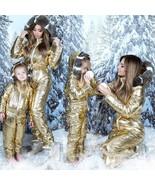 Winter Skisuit Snowsuit Ski Suit Overall Snow Wet Look Gloss Shine Nylon... - $249.00