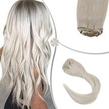 Hetto Straight Clip in Hair Extensions Double Weft Clip in Real Hair Extensions  image 2